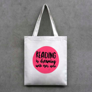 Tote Bag: Reading is dreaming with eyes open
